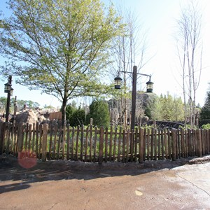 2 of 15: Fantasyland - Seven Dwarfs Mine Train coaster construction