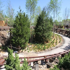 11 of 15: Fantasyland - Seven Dwarfs Mine Train coaster construction