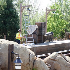 2 of 9: Fantasyland - Seven Dwarfs Mine Train coaster construction