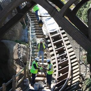 4 of 9: Fantasyland - Seven Dwarfs Mine Train coaster construction