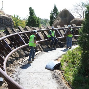 5 of 9: Fantasyland - Seven Dwarfs Mine Train coaster construction
