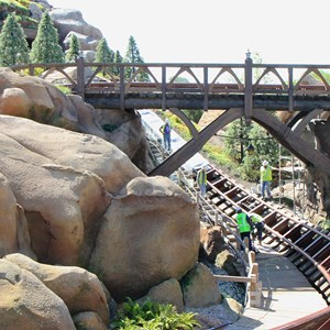 6 of 9: Fantasyland - Seven Dwarfs Mine Train coaster construction