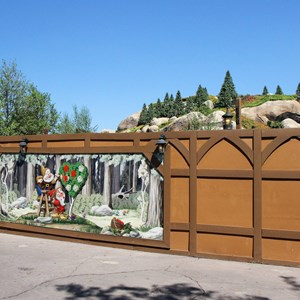 8 of 9: Fantasyland - Seven Dwarfs Mine Train coaster construction