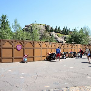 9 of 9: Fantasyland - Seven Dwarfs Mine Train coaster construction