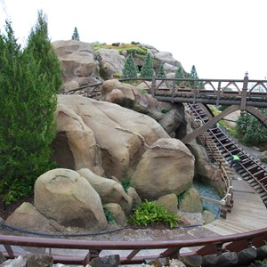 11 of 13: Fantasyland - Seven Dwarfs Mine Train coaster more walls down