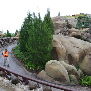 12 of 13: Fantasyland - Seven Dwarfs Mine Train coaster more walls down