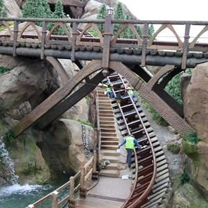 13 of 13: Fantasyland - Seven Dwarfs Mine Train coaster more walls down