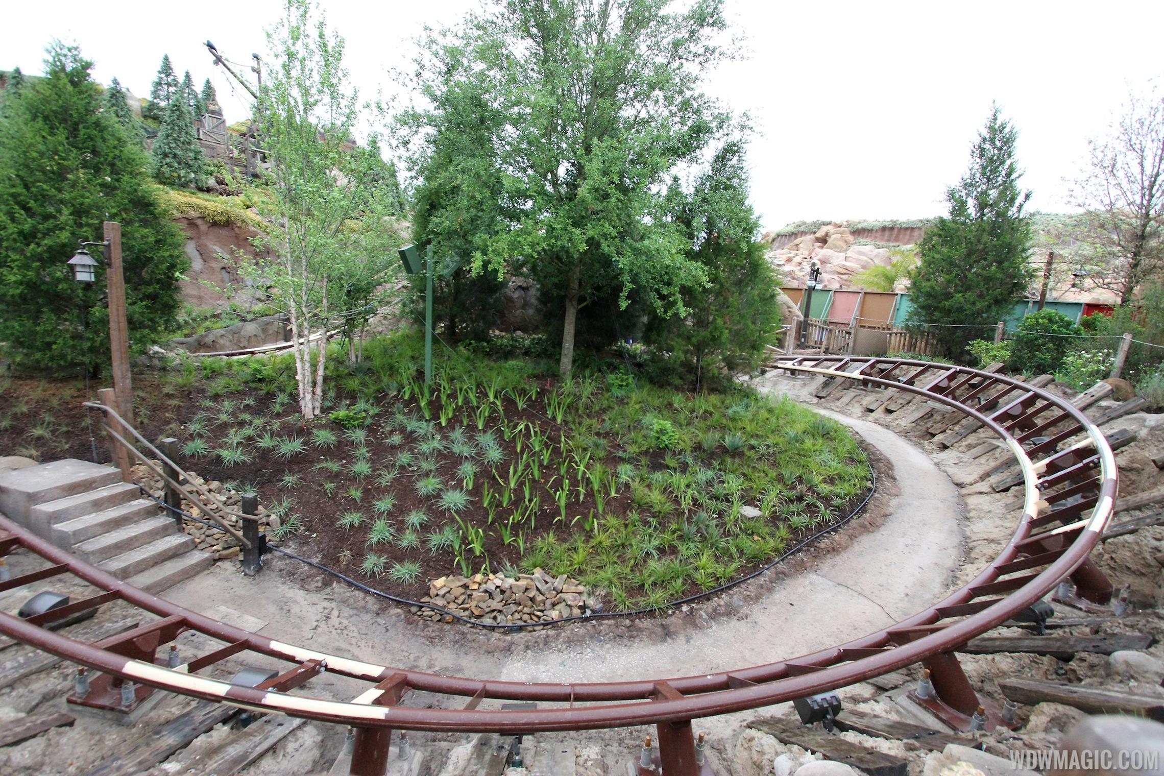 More walls down at Seven Dwarfs Mine Train coaster