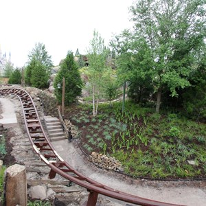 2 of 13: Fantasyland - Seven Dwarfs Mine Train coaster more walls down