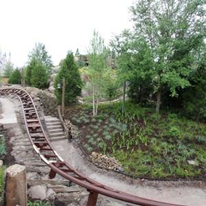 2 of 13: Fantasyland - Seven Dwarfs Mine Train coaster more walls down