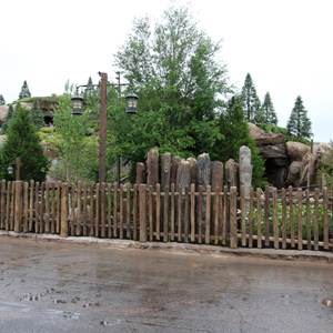 3 of 13: Fantasyland - Seven Dwarfs Mine Train coaster more walls down