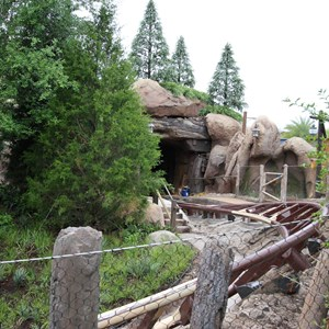 5 of 13: Fantasyland - Seven Dwarfs Mine Train coaster more walls down