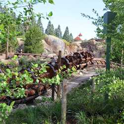 Seven Dwarfs Mine Train commercial filming