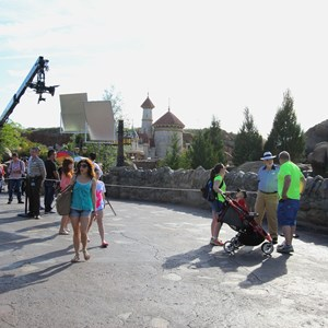 8 of 11: Fantasyland - Seven Dwarfs Mine Train commercial filming