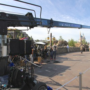 9 of 11: Fantasyland - Seven Dwarfs Mine Train commercial filming