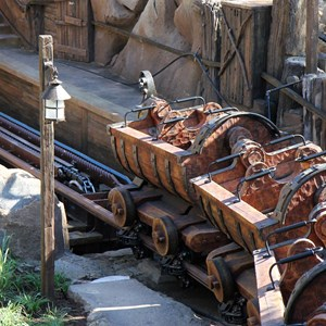 5 of 11: Fantasyland - Seven Dwarfs Mine Train commercial filming