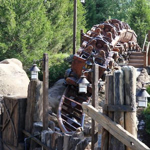 6 of 11: Fantasyland - Seven Dwarfs Mine Train commercial filming
