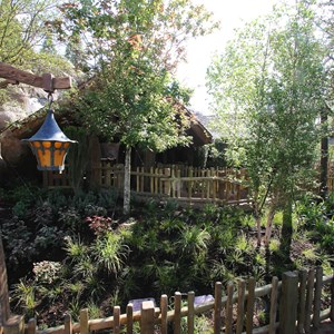 9 of 19: Fantasyland - Walls down around queue at Seven Dwarfs Mine Train coaster