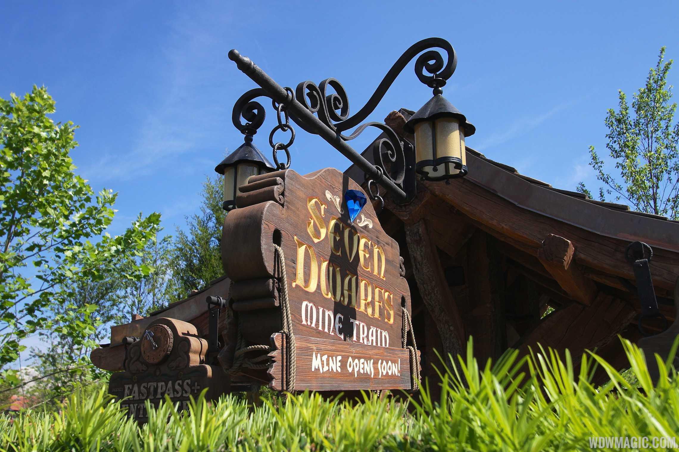 Seven Dwarfs Mine Train coaster