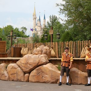 2 of 4: Fantasyland - Seven Dwarfs Mine Train dedication ceremony stage setup