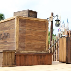 3 of 4: Fantasyland - Seven Dwarfs Mine Train dedication ceremony stage setup