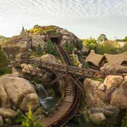 Seven Dwarfs Mine Train overhead view