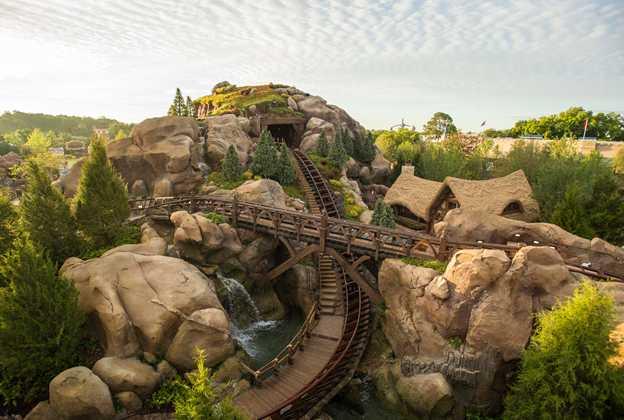 Seven Dwarfs Mine Train overhead view