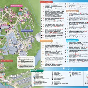 2 of 3: Fantasyland - New Magic Kingdom guide map featuring Seven Dwarfs Mine Train - back