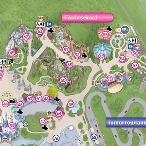 3 of 3: Fantasyland - New Magic Kingdom guide map featuring Seven Dwarfs Mine Train