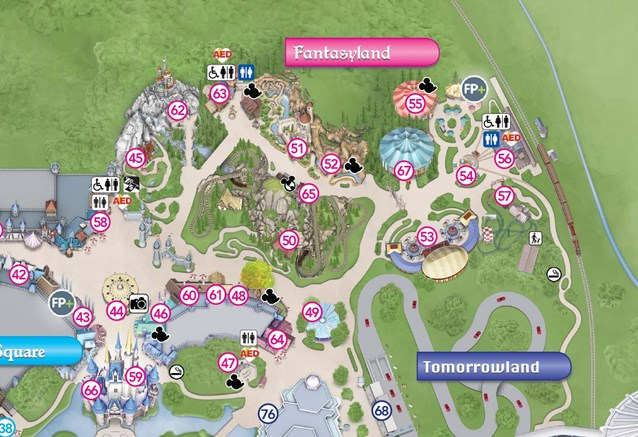 Fantasyland - New Magic Kingdom guide map featuring Seven Dwarfs Mine Train