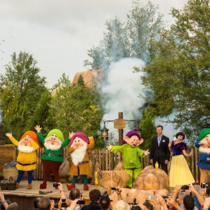 1 of 2: Fantasyland - Seven Dwarfs Mine Train dedication ceremony