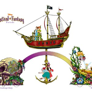 2 of 5: Disney Festival of Fantasy Parade - Festival of Fantasy Parade concept art - Peter Pan float