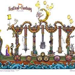 Festival of Fantasy Parade concept art