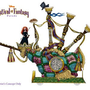 4 of 5: Disney Festival of Fantasy Parade - Festival of Fantasy Parade concept art