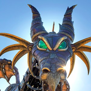 1 of 2: Disney Festival of Fantasy Parade - Maleficent Steampunk-inspired Dragon for Disney Festival of Fantasy Parade