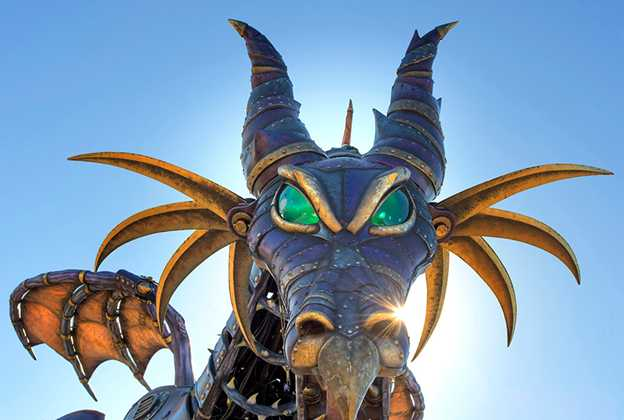 Maleficent Steampunk-inspired Dragon for Disney Festival of Fantasy Parade