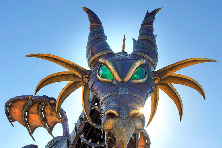 Maleficent float from Disney Festival of Fantasy Parade