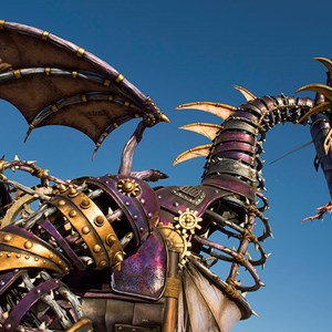 2 of 2: Disney Festival of Fantasy Parade - Maleficent Steampunk-inspired Dragon for Disney Festival of Fantasy Parade