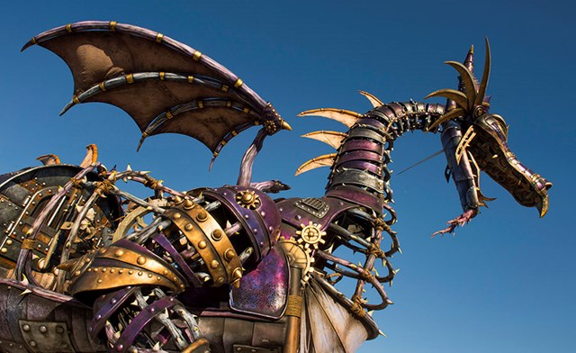 Maleficent float from Disney Festival of Fantasy Parade