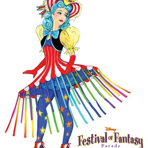 5 of 12: Disney Festival of Fantasy Parade - Disney Festival of Fantasy Parade Costumes - Cha Cha Girl concept art