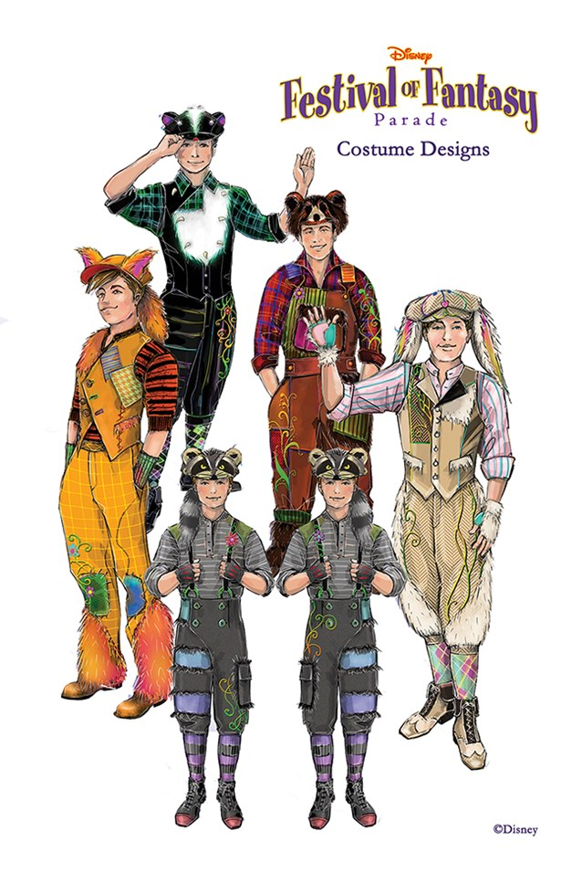 Disney Festival of Fantasy Parade - Disney Festival of Fantasy Parade Costumes - Lost Boys concept art