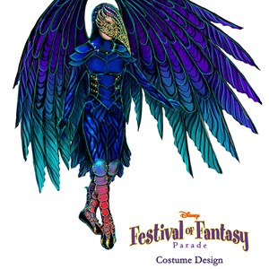 3 of 12: Disney Festival of Fantasy Parade - Disney Festival of Fantasy Parade Costumes - Raven concept art