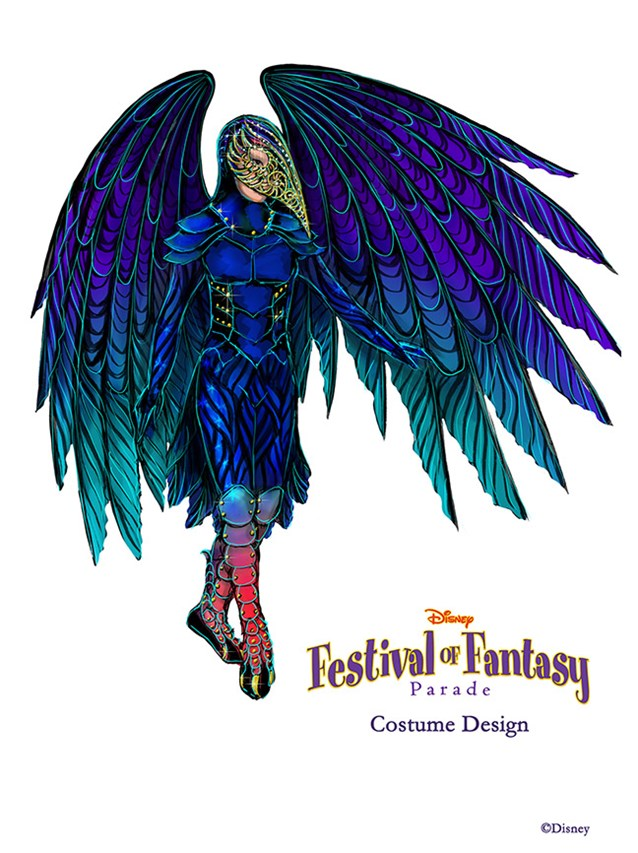 Disney Festival of Fantasy Parade - Disney Festival of Fantasy Parade Costumes - Raven concept art