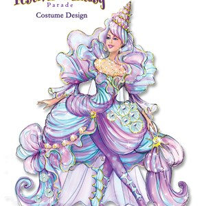 1 of 12: Disney Festival of Fantasy Parade - Disney Festival of Fantasy Parade Costumes - Seashell Girl concept art