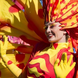4 of 8: Disney Festival of Fantasy Parade - Disney Festival of Fantasy costume rehearsal