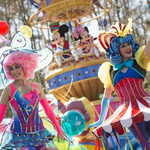2 of 8: Disney Festival of Fantasy Parade - Disney Festival of Fantasy costume rehearsal