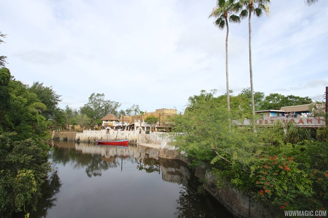 Festival of the Lion King - New Harambe Theatre area in Africa - View from the Discovery Island bridge