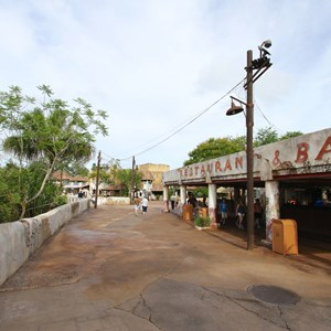 4 of 40: Festival of the Lion King - New Harambe Theatre area in Africa - Walkway into new area along Dawa Bar