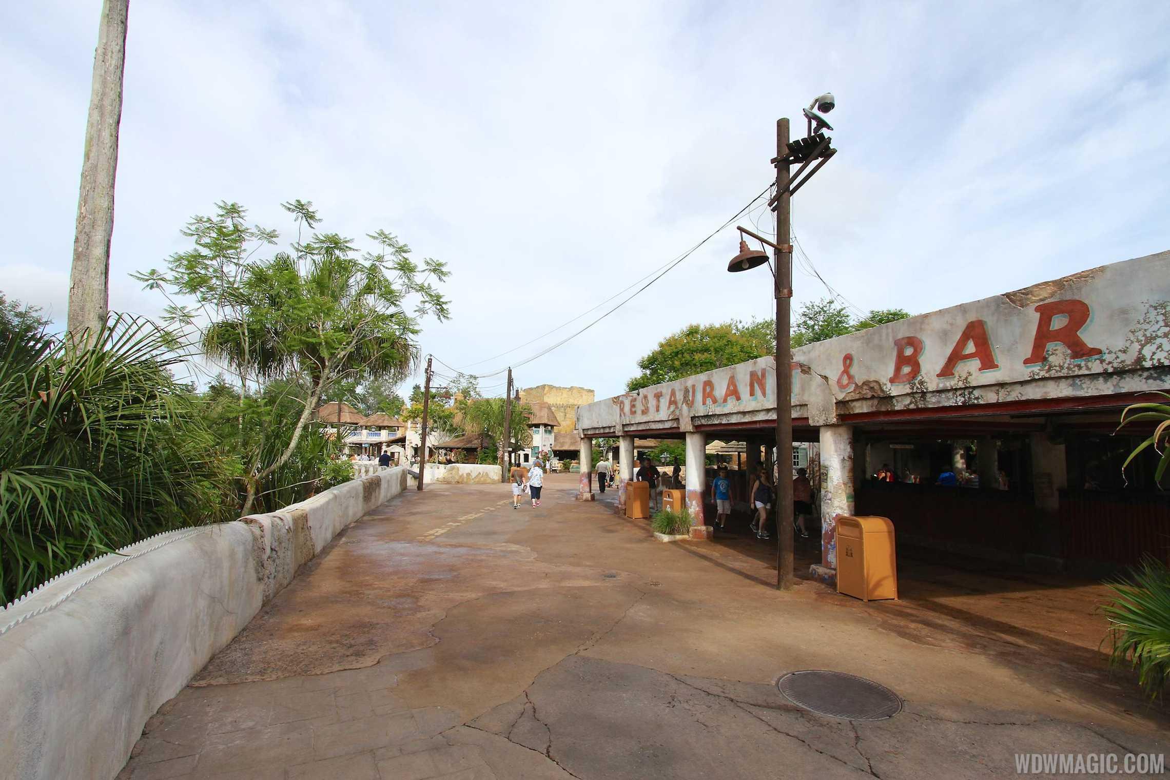 New Harambe Theatre area in Africa - Walkway into new area along Dawa Bar