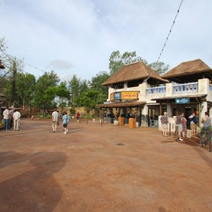 26 of 40: Festival of the Lion King - New Harambe Theatre area in Africa - Wide view of the theatre area